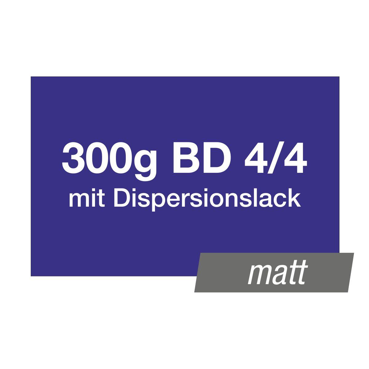 Visitenkarten 85x55mm 300g 4/4 mit Lack