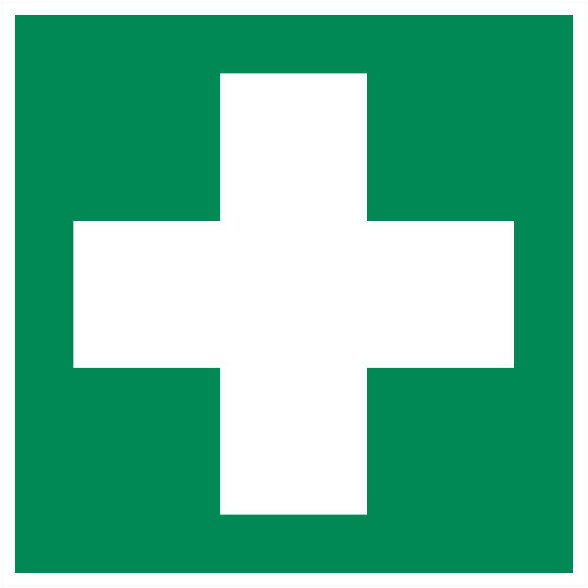 Aufkleber 'Erste Hilfe' Rettungszeichen ISO 7010 E003