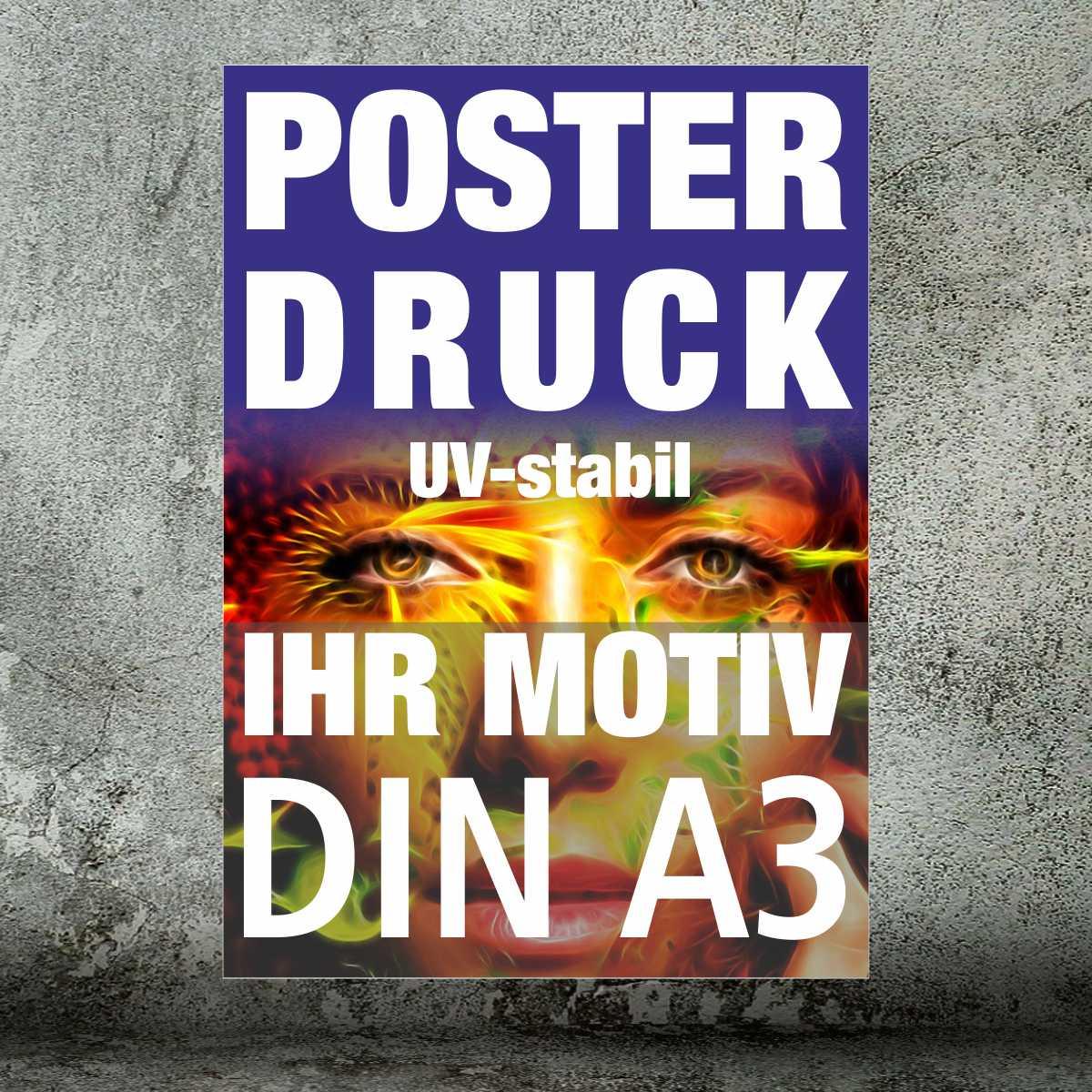 Plakate und Poster · DIN A3 4/0-farbig (ab 1 Stück)