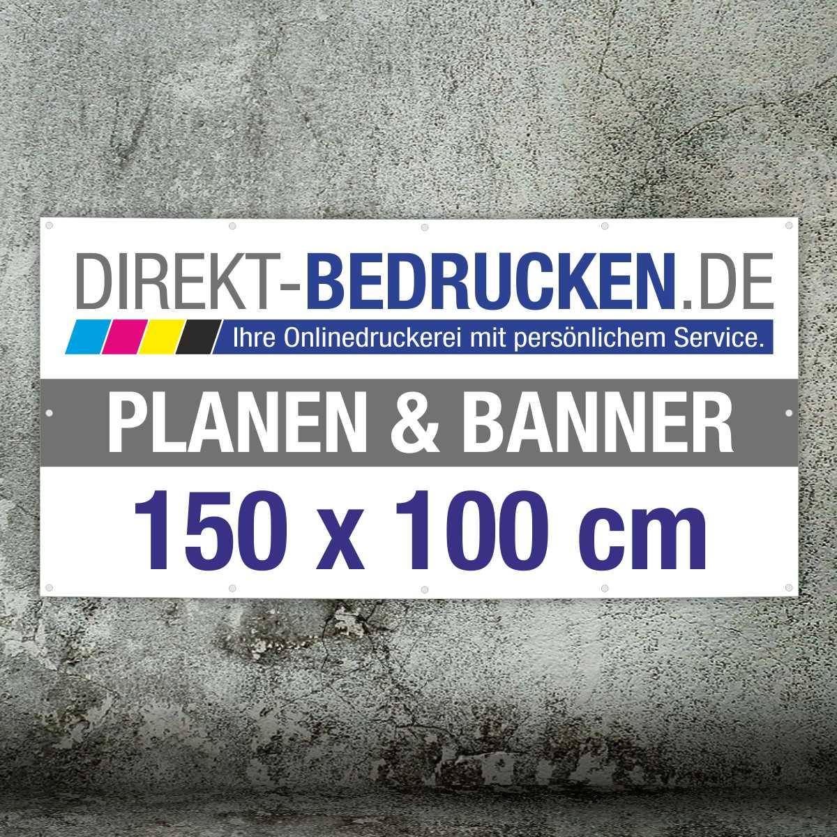 Werbebanner 150 x 100 cm | 4C-Druck | mit Ösen