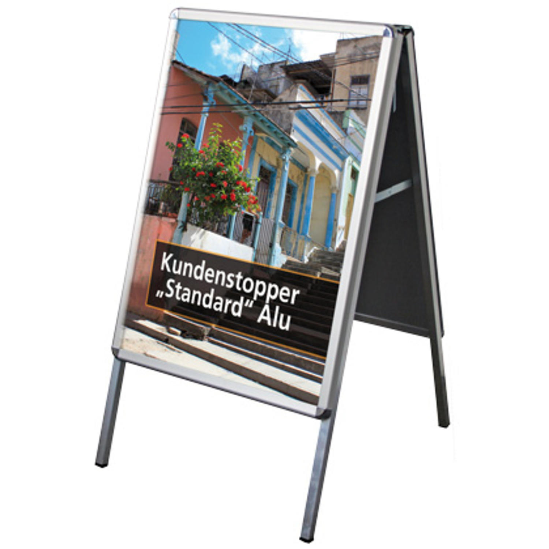 "Kundenstopper ""Standard"" Alu (indoor)"