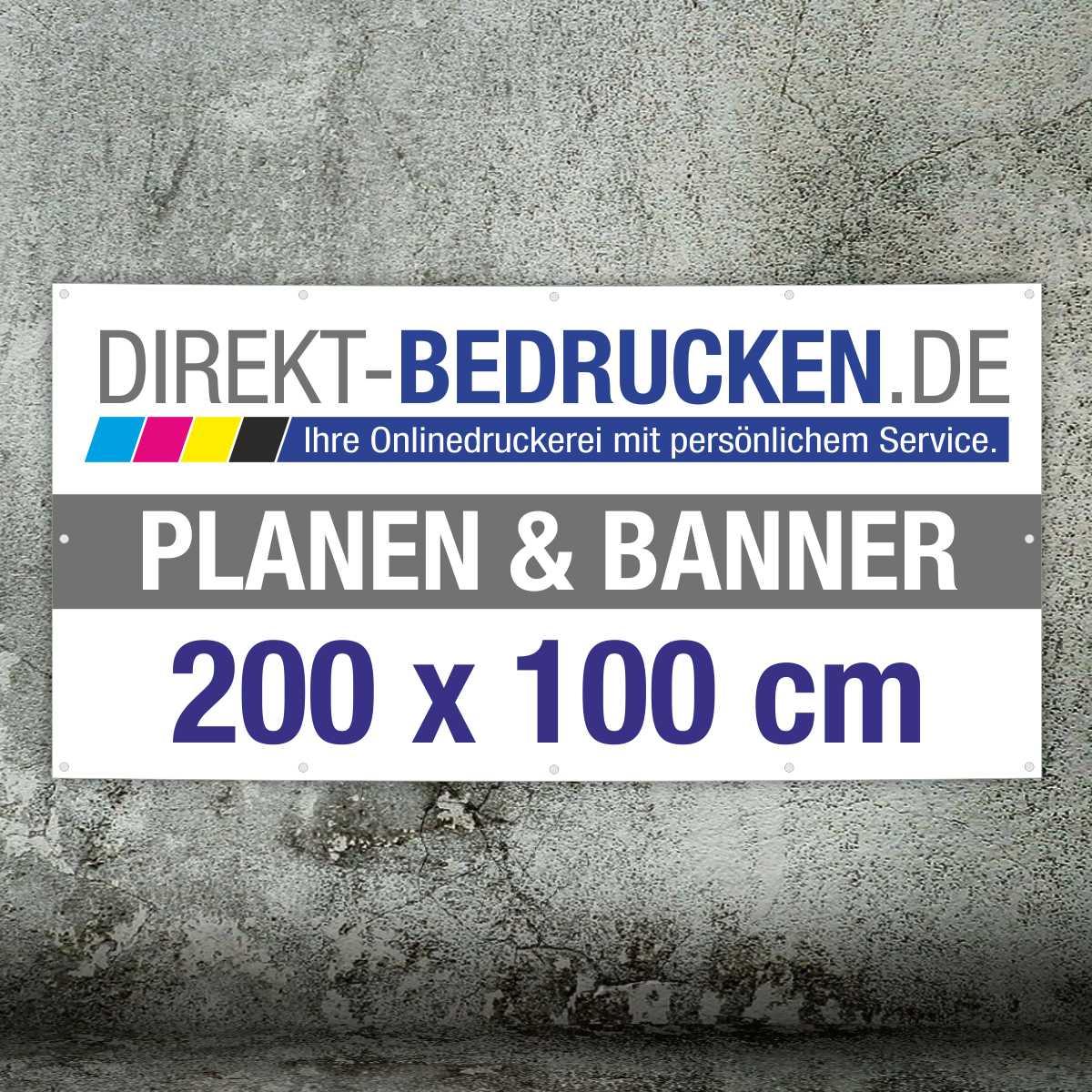 Werbebanner 200 x 100 cm   4C-Druck   mit Ösen
