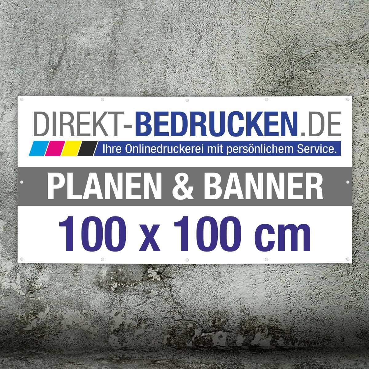Werbebanner 100 x 100 cm   4C-Druck   mit Ösen
