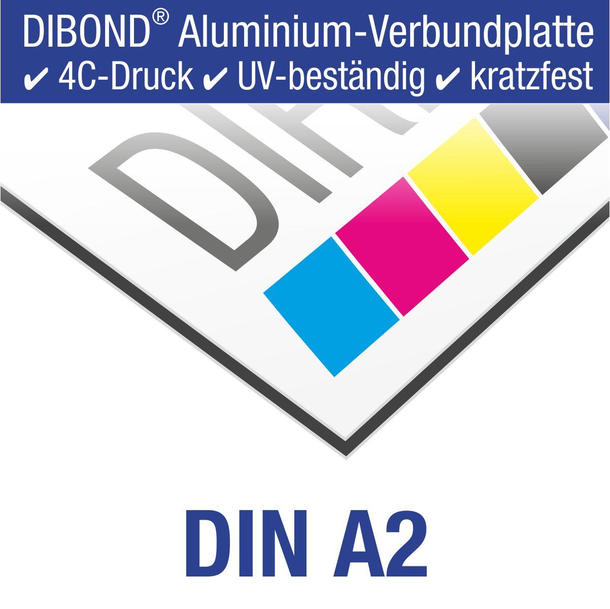 DIBOND® Schild mit 4C-Druck | DIN A2 (59,4 x 42,0 cm)