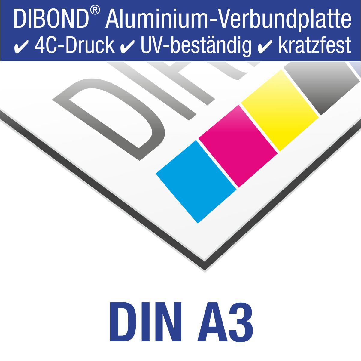 DIBOND® Schild mit 4C-Druck | DIN A3 (42,0 x 29,7 cm)